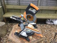 Chop saw, Evolution Rage3-S, sliding, bevel and compound cuts