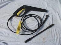 Karcher Spray Gun, High Pressure Hose & Lance - Good Condition