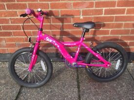 pink Apollo girls bike