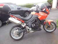 2008 Triumph Tiger 1050 with low mileage