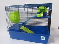Large Hamster Cage - Dexter Blue and Lime RRP £29.99