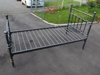 3 ft metal single bed frame.