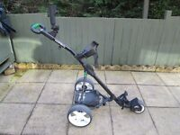 hillbilly terrain electric golf trolley,new 28ah battery,new charger,good working condition.