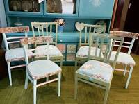 *free local delivery* 6 shabby Chic chairs dining chairs bedroom chairs