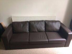 Brand new, brown, 3 person sofa, perfect condition £60