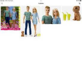 Barbie and Ken Pet Set