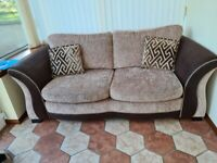2 piece sofa suite, consisting of sofa bed and chaise lounge