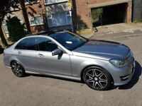 Mercedes C220 amg plus +sport premium. Auto, Pan glass roof 2013 63reg 64kmiles fully loaded