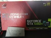 1080Ti ROG Poseidon 11GB graphics card - FASTEST CARD ON THE MARKET FOR GAMING RRP £1100