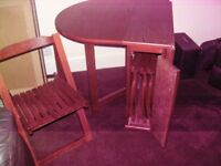 Butterfly Extendable Oval Solid Wood Table and 4 Chairs