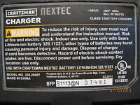 Chargeur Craftsman Lithium-Ion neuf