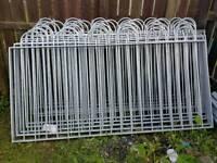 Galvanised steel fence for sale