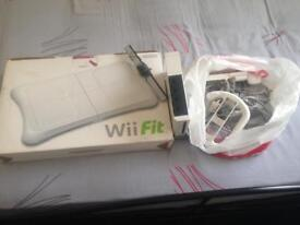 Wii and fit board all leads no controllers