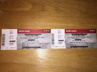 X2 Robbie Williams tickets for Ricoh arena, Coventry 13th June
