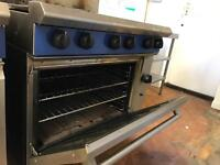 6 burner cooker and double fryer .GAS