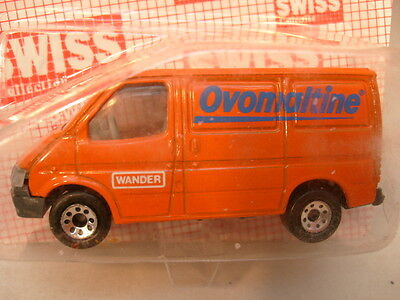 1986 MATCHBOX SWISS MB-60 FORD TRANSIT VAN OVOMALTINE MOC