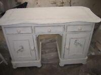 Painted pine cream desk