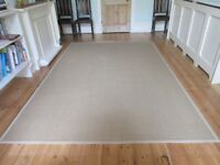 Sisal rug - 200cm x 300cm - excellent condition.