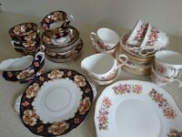 Royal Albert and Colclough China Tea Sets