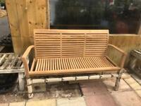 Hard wood garden bench