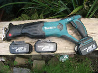 Professional Makita 18v LXT Cordless Rip Reciprosaw BJP181! Full Working Order! Extras available!