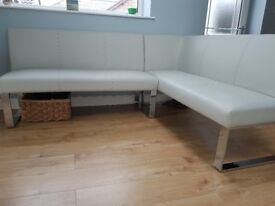 Danetti Corner Dining Bench faux leather