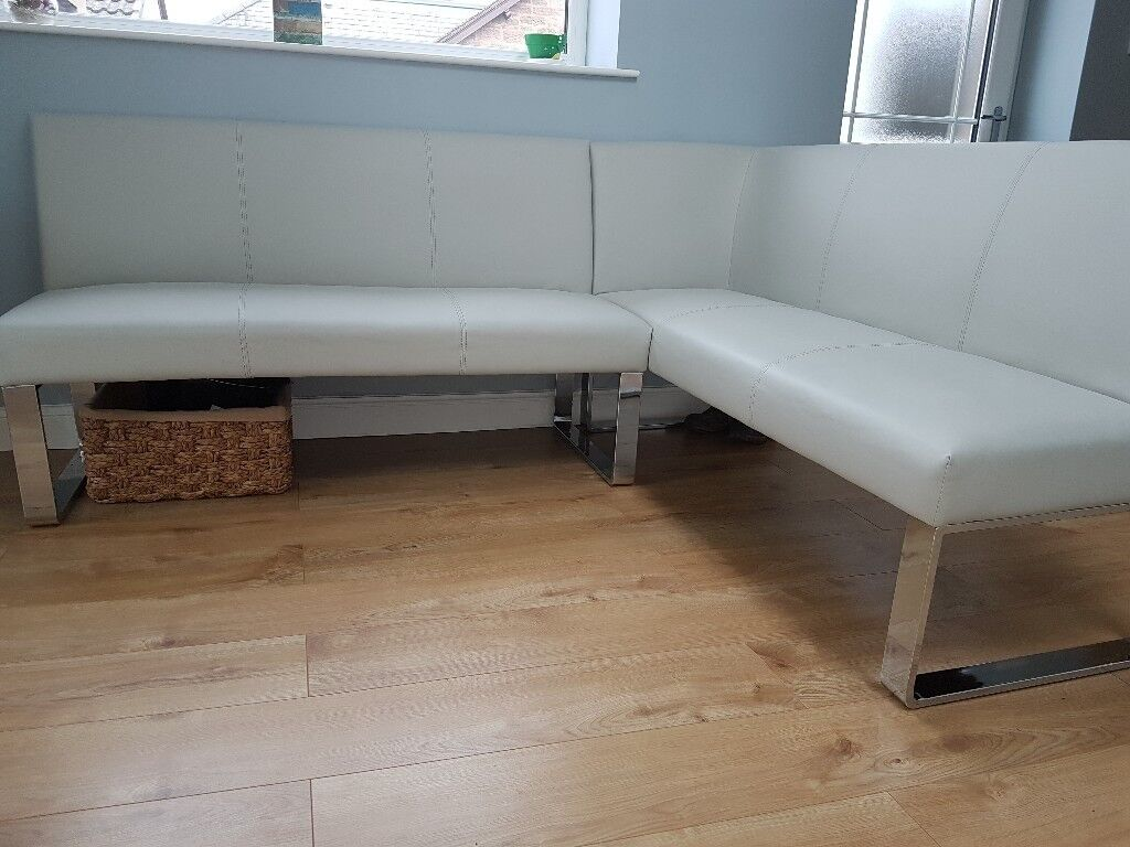 Danetti Corner Dining Bench Faux Leather In Forfar
