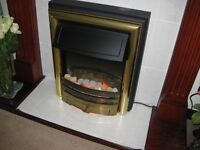 Electric Coal Effect Fire with Surround