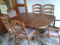 Dining Room Furniture - Table + 6 Chairs - Dresser - Bureau