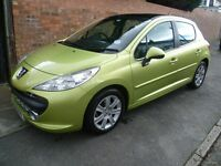 PEUGEOT 207 AUTO, 2008 REG, LONG MOT, FULL HISTORY, LOW MILES, TOP SPEC WITH PANORAMIC ROOF