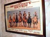 LARGED FRAMED PRINT OF MAGNIFICENT SEVEN