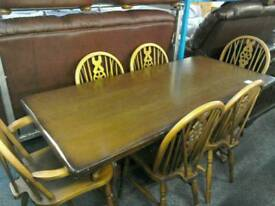 Dining room table and 4 chairs and 2 carvers #33408 £125