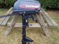 Outboard motor 3.3hp Evinrude/Mariner/Mercury excellent starter runner,very little use.