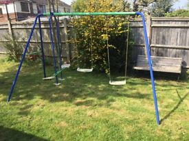 Kids play swings used