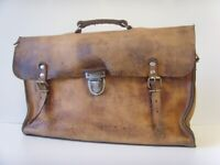 Vintage Real Leather Engineers Tool Bag - Can DELIVER