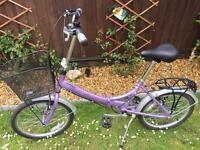 Raleigh shopper folding ladies bike