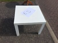 White Ikea small table