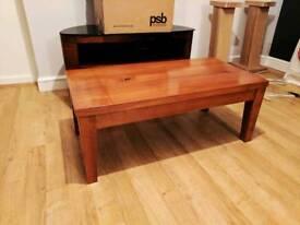 Solid oak coffee table handmade.