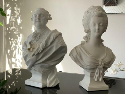 Signed Antique Sevres Marie Antoinette and Louis XVI Bust!