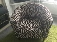 Tub/Bucket Chair- Fabric Animal Print