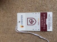 chester races county concourse summer festival ticket cost £50 selling for £30!