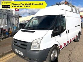 Ford Transit 2.4 350 LWB High Roof, Direct From National Company, AIR CON, FS , 1YR MOT, 95K Miles