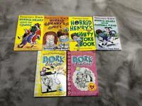 Children's reading books, horrid Henry, dork diaries