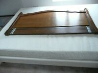 Double divan bed with headboard