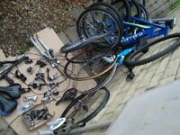 MOUNTAIN BIKE PARTS - Uk delivery + Paypal - wheels forks gears frames hydraulic brakes -