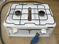 Portable Twin Burner with grill