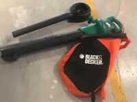 BLACK AND DECKER garden vacuum and leaf blower