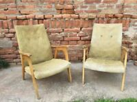 Vintage RUSSIAN Mid-Century Chairs Tall Boy Chair Lounger Great Shape