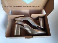 Boohoo fashion woman smart shoes - gold, size 5