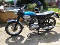 1960 Triumph Tiger T100 Classic Historic Bike